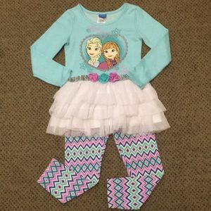 Disney Frozen Long Sleeve tutu and pants set